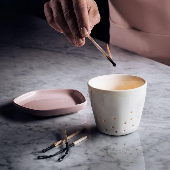 Iittala X Issey Miyake - tea light holder 70 mm, plate 11 x 11 cm