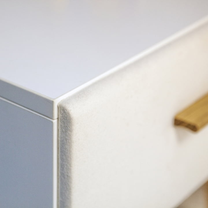 Drawer Front with Loden Cloth