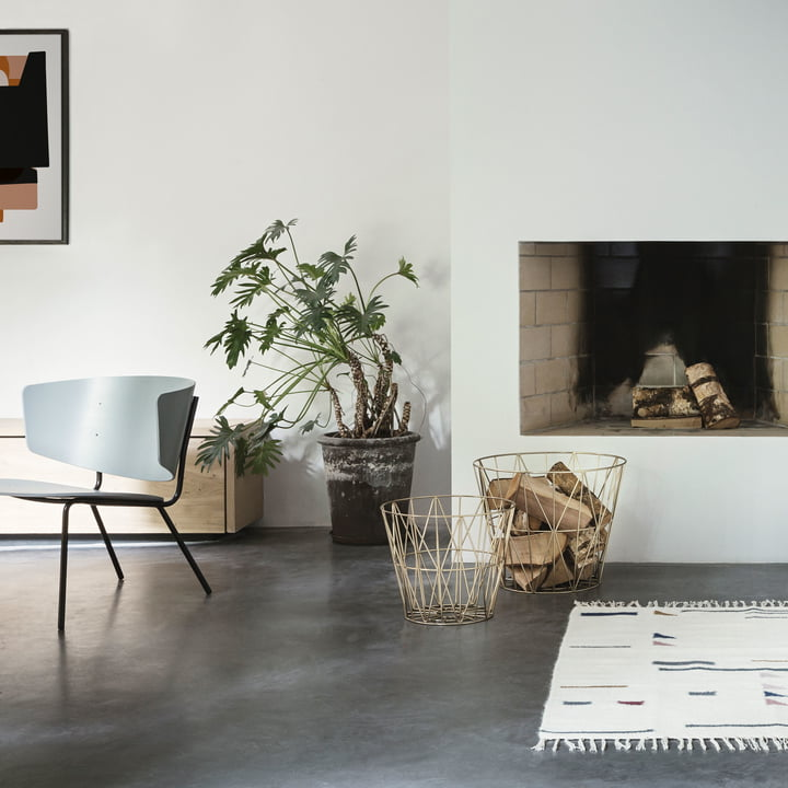 Wire Basket and Herman Lounge Chair