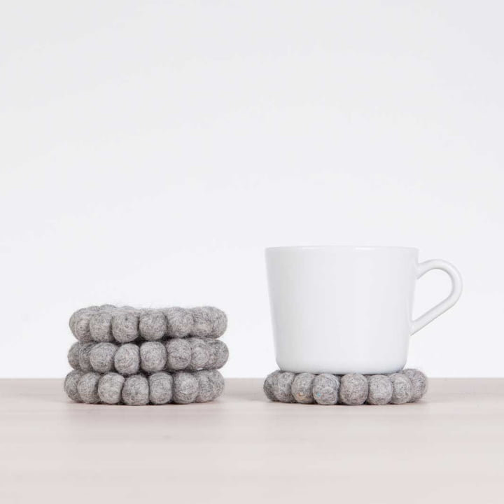 The myfelt - Coaster, Ø 9 cm in the design Carl