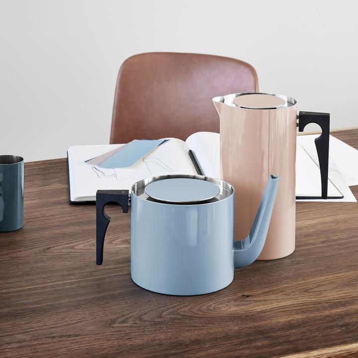 Stelton - Cylinda Line tea pot, 1.25 l, smokey blue