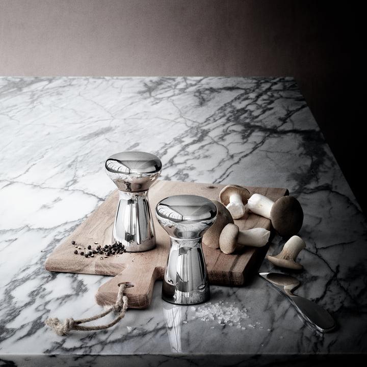 Georg Jensen - Alfredo Salt and Pepper Shaker, Set of 2, small