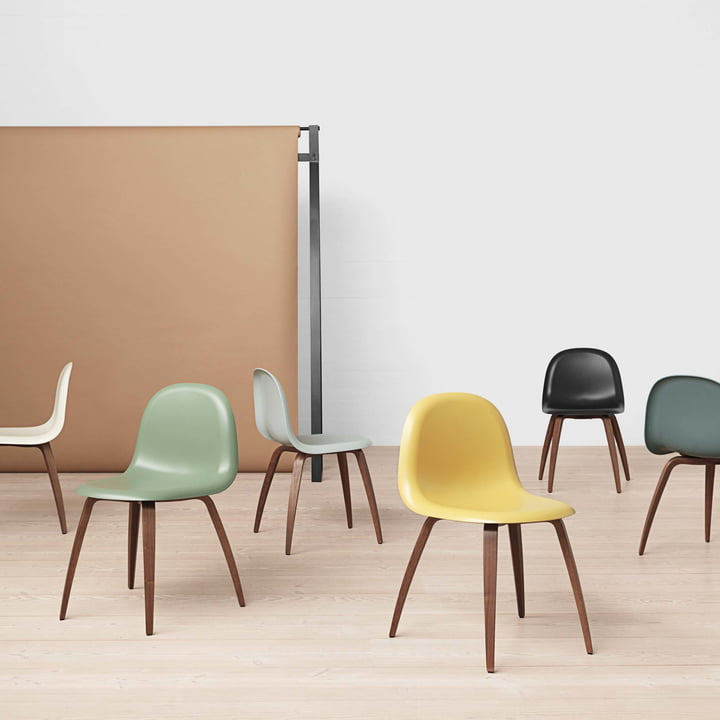 3D Dining Chair / Wood Base by Garner in various designs