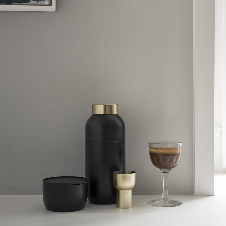 Collar Cocktail Shaker and Measuring Cup by Stelton