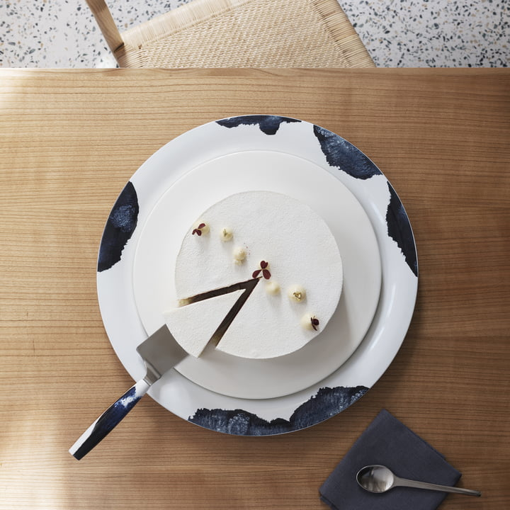 Stockholm Platter and Cake Knife by Stelton