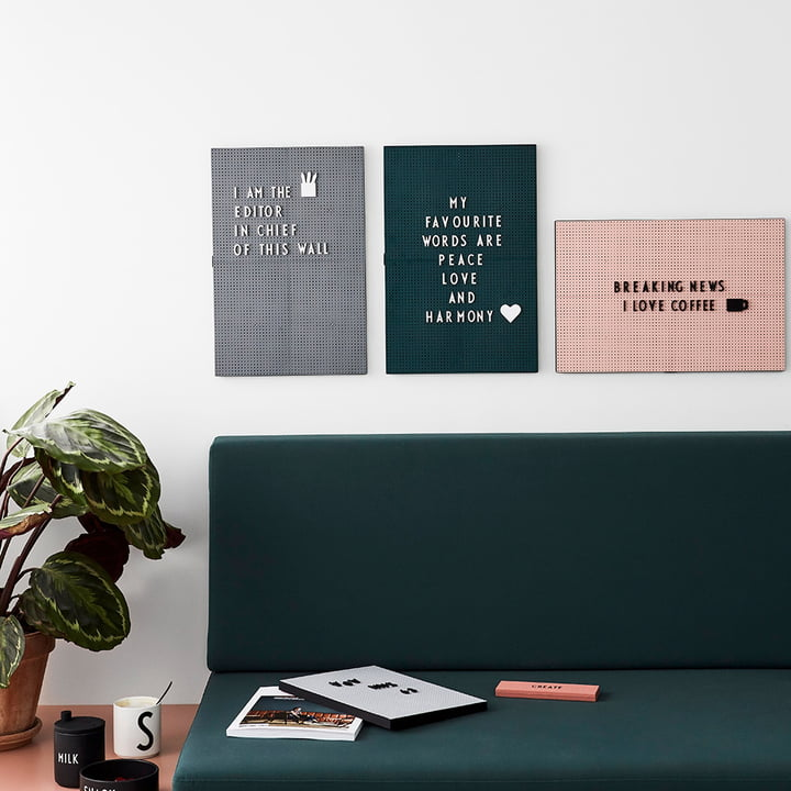 The Design Letters - Message Board over the Sofa
