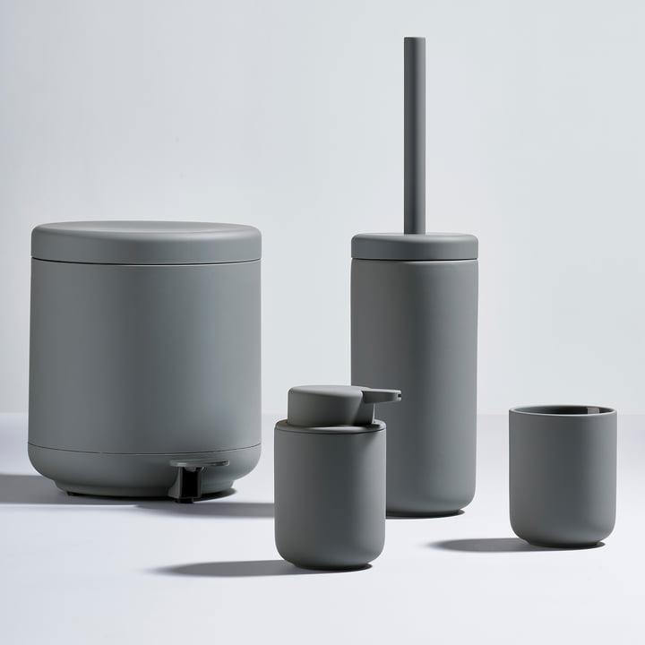 The Zone Denmark - Ume Series with Soap Dispenser, Toothbrush Holder, Toilet Brush and Pedal Bin