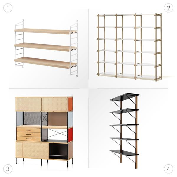 Variety of shelves